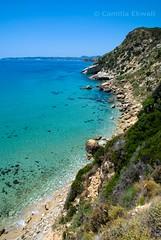 Kefalonia, Greece (-Camilla) Tags: cliff mountain seascape rock landscape island mediterranean crystal xx clear greece coastline turqoise cephalonia ionian nikond80 nikkor18105mm