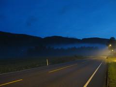 Going home late at night (Jan Egil Kristiansen) Tags: road fog night forest haze streetlights dis tke kongsberg sommernatt eftelt img522 nattetke