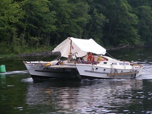 Covered catamaran