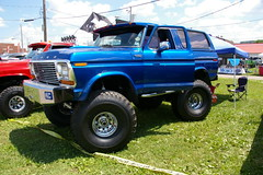 Full Size Ford Bronco Ranger With Rear Steering (geepstir) Tags: truck offroad pennsylvania 4wd pa monstertrucks bloomsburg truckshow columbiacounty
