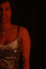 More Glittery Version of Me (173/365) (brandy_shot) Tags: lighting ladies red portrait woman lady self canon silver hair neck glasses beads mujer model women long glow retrato top mulher lips v workshop strap tight sparkly tones ragazza selfie rapariga muchacha labio hsm strobist 450d hmam soundtrackmonday
