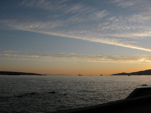 second beach vancouver sunset