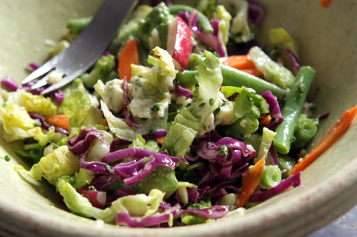 Chopped Vegetable Salad with Lemon-Garlic Dressing - David Lebovitz