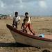 Filhos de pescadores em Chennai