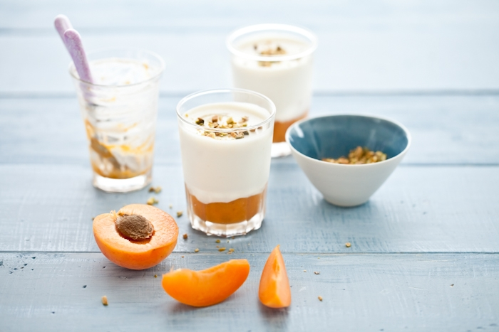 Apricots & Honey Panna Cotta