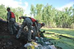 Quick Reaction Force 1 (North Dakota National Guard) Tags: flood ring bismarck dike levee solheim 957 qrf