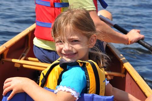 Cruising in a canoe