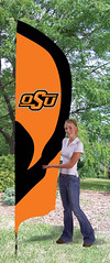 Oklahoma State Tall Feather Flag