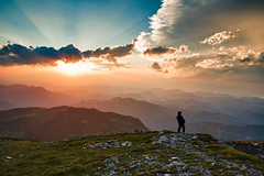 Peeing from the highest mountain of Lower Austria at sundown = perfect emotional freedom (RiOTPHOTOGRAPHY.com) Tags: sunset sky mountain man alps pee nature silho