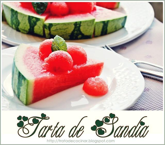 Tarta SandíaTarta de Sandía
