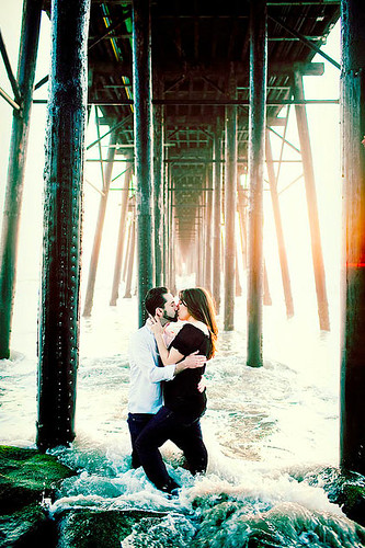Kissing Under The Pier - by Jolynne Photography