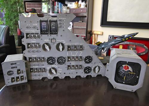 1 model panel cm instrument apollo command module bobwhite x15 joeengle block1 fdai subpanel mdc18 mdc20