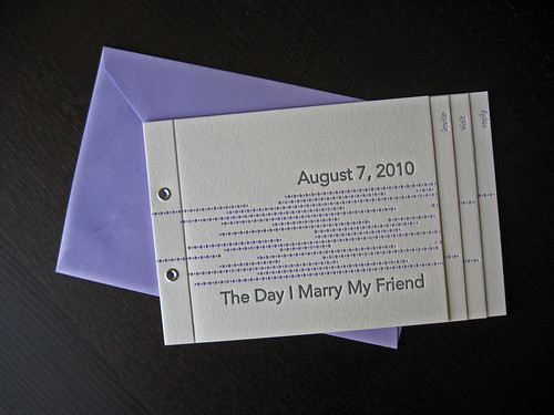 Letterpress Wedding Invite Booklet