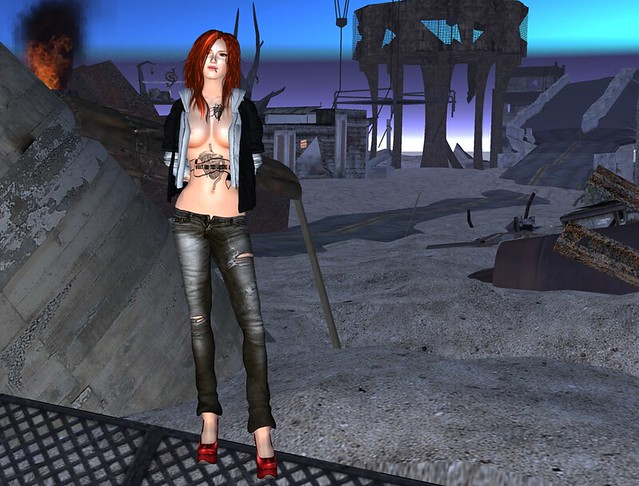 MINA Hair - Famke  for Hair Fair ,Coco Update Group,::Poised:: Kaii Jeans Dirt & Fleshtone Pumps!