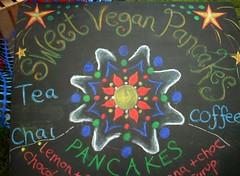 Sweet Vegan Pancakes sign