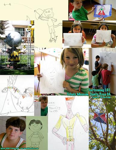 Cartooning 101 - Schulz Museum, Santa Rosa CA - student work