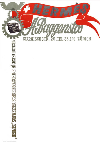 Briefpapier Baggenstos 1933