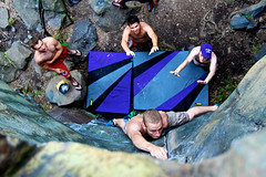 Bouldering (math3780) Tags: water minnesota sport rock foot midwest dynamic ryan top deep rope boulder falls crack climbing v3 anchor static chip bouldering mn v1 hold trad v2 taylors mathieu v7 v6 plunge lunge dyno traditiona v4 v5 crimp spotters v0 spotter soloing slicksides