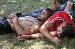 Having a rest after a wrestle (CharlesFred) Tags: turkey turkiye turkije kirkpinar edirne thrace oilwrestling trakya sarayicifield