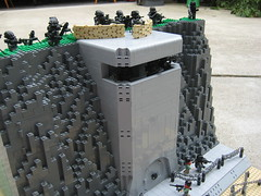 Bunker view (*Nobodycares*) Tags: world 2 cliff beach weird amazing war lego wwii attack assault troopers bunker ii hazel armor ama tiny wierd ww2 soldiers guns omaha armory normandy dday isa jackets kz helghast killzone tactical uas sheaths brickarms sluban brickforge mmcb kz3 kz2 minifigcat tinytactical toys711