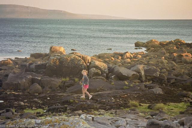 17A_0113: Mackenzie on the shoreline