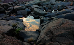 Pause for Reflection (Boreal Bird) Tags: reflection nature minnesota explore brightonbeach duluth cloudreflections puddlereflection glap