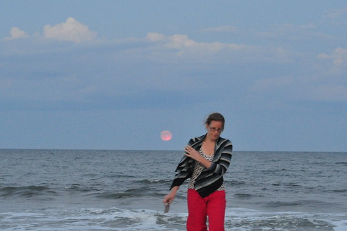 the pink moonrise