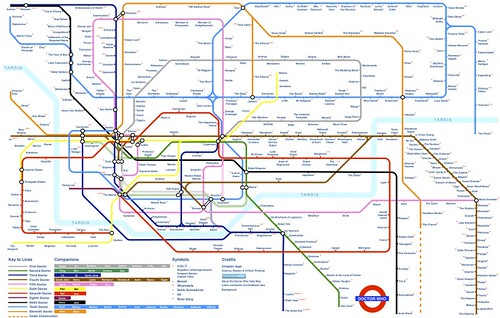 Doctor Who Tube map by Crispian Jago