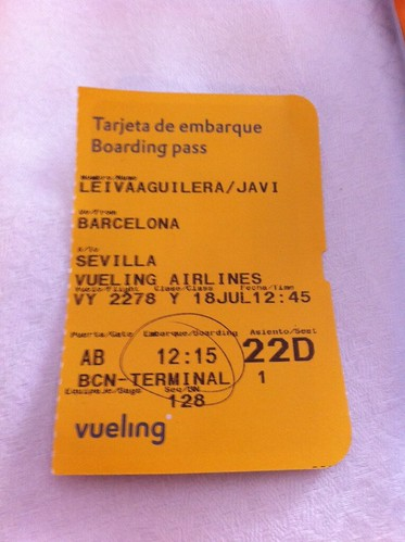 Vueling Airlines | Tarjeta de embarque