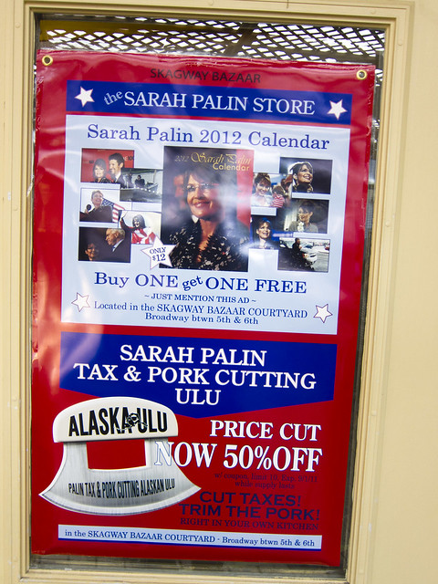 The Sarah Palin Store in Skagway Alaska