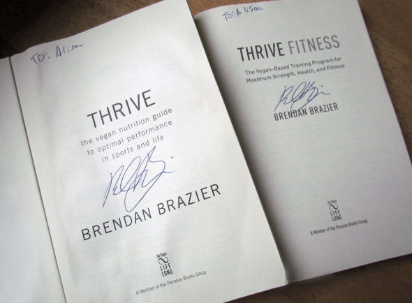 Thrive and Thrive Fitness signed by Brendan Brazier