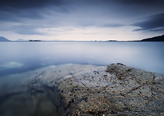 BLUEISH NIGHT WITH rOBERT AND nOAH (~~~johnny~~~) Tags: blue sky rain norway rock clouds interesting moody wide cracks troms 17mm smoothness 1740mmlf4 elgsnes grtavr canoneos5dmkll leefilters09and075softgradsstacked