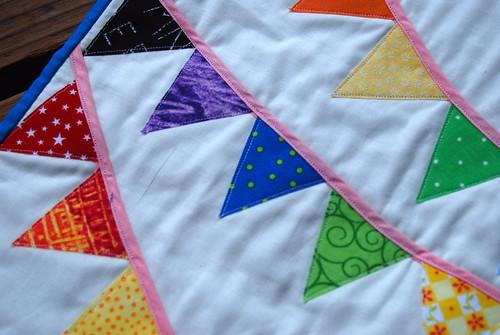 Bunting Mini Quilt Closeup