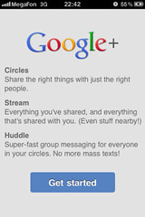 Google+ for iPhone: Start