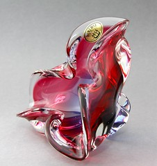 Sklo Union Chribska Glassworks Sommerso vase by Josef Hospodka circa 1970′s (afterglowretro) Tags: glass czech union josef glassworks bowls bohemian vases sklo sommerso chribska hospodka