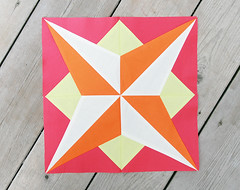 Summer Sampler Series : Star (Fresh Lemons : Faith) Tags: star tutorial quiltblock paperpiecing patbravo pureelements summersamplerseries