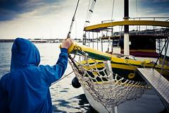 Away (Matteo Crema) Tags: boy sea man boat barca mare uomo ragazzo
