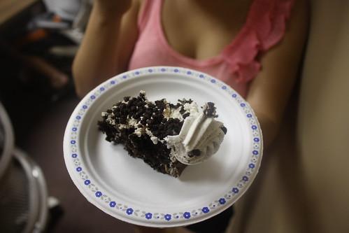 Oreo cake, yum!