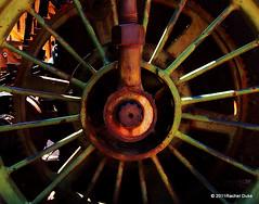 Circumvolution (RFrangipani) Tags: arizona green wheel metal train mine antique rim patina goldfield
