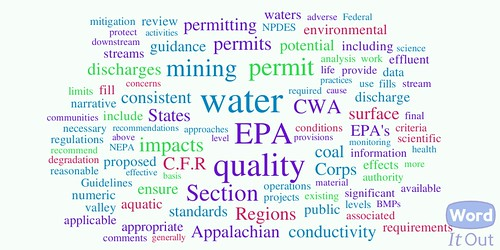 Word Cloud of EPA Guidance on Surface Mine Permitting in Appalachia