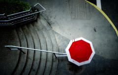 Red (. Jianwei .) Tags: street red wet rain vancouver umbrella mood geometry candid streetlife 365 waterfrontstation a500 jianwei  kemily mygearandme mygearandmepremium mygearandmebronze mygearandmesilver dblringexcellence tplringexcellence artistoftheyearlevel3 artistoftheyearlevel4