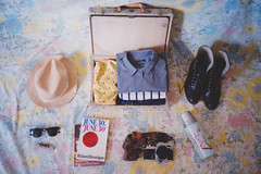 (chooseanalog) Tags: film 35mm boots weekend shirts suitcase rayban brautigan olympusxa pocketknife june30th nikonfm