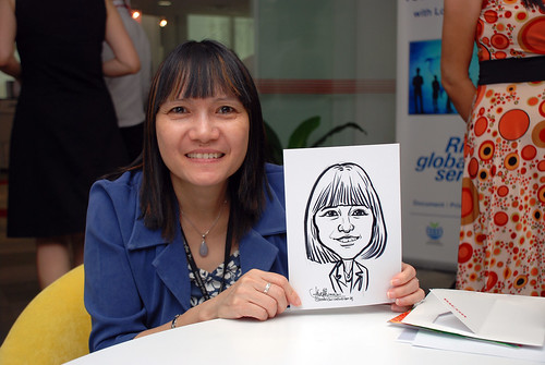 Caricature live sketching for Ricoh Roadshow - 28