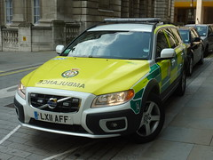 London Ambulance Service | Volvo XC70 | Rapid Response Vehicle | LX11 AFF (EmergencyVehiclePics1) Tags: new las blue london race lights mercedes pier video amazing call respect bell fast run ambulance led yelp leds shape brand siren callout shout 999 wail on the bullhorn twotone lifesavers sprinter strobes airhorn