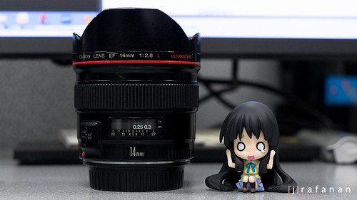 Canon EF 14mm f/2.8L with Mio Nendoroid