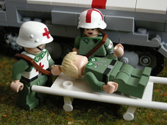 German aid station LEGO (MR. Jens) Tags: world two germany soldier war wiking lego wwii ss german ww2 division 5th 20th panzer sanitter wehrmacht waffen panzergrenadier