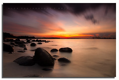 "Chasing Light - ""Colors of Sunset at Punggol Beach"" (www.glenespinosaphoto.com) Tags: sunset silhouette tokina1224f4 longexposurephotography canon7d sunsetatpunggolbeachsingapore"