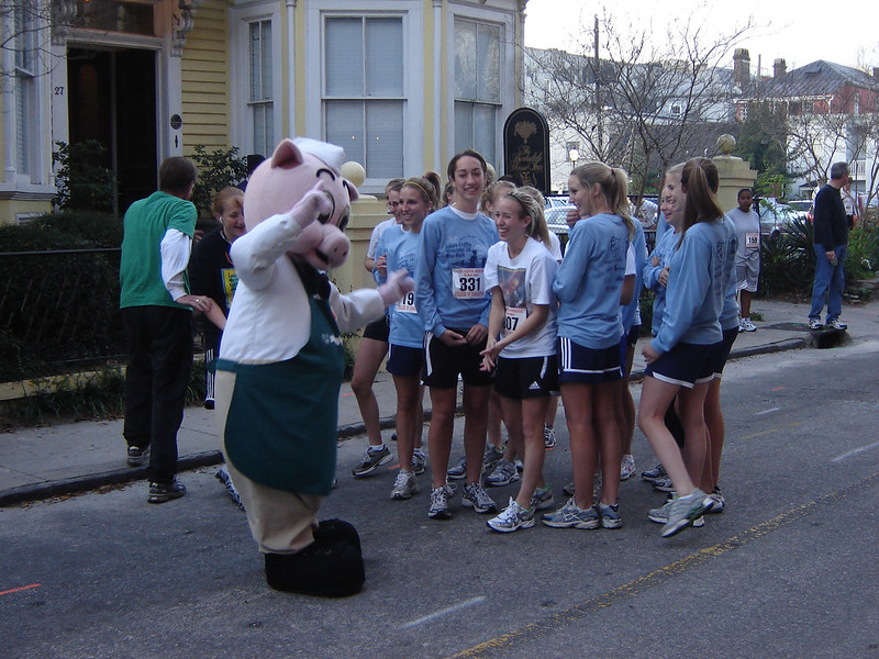 The Pig Flirts with the Girls