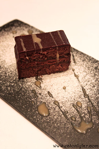 Chocolate cake, Restaurant Etapes