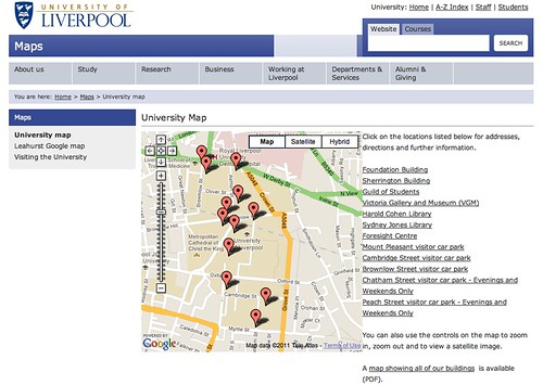 Liverpool campus map